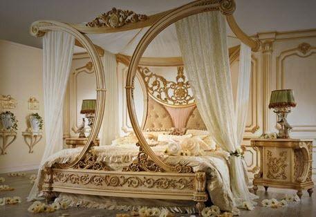 cama con dosel / de matrimonio / de estilo / de tejido