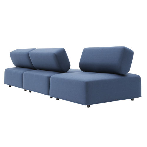 sofá modular / contemporáneo / de tejido / para edificio público