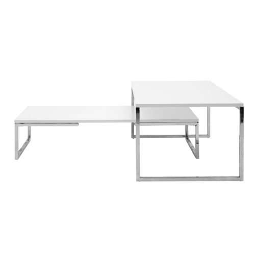 mesa de centro contemporánea / de acero / rectangular / cuadrada