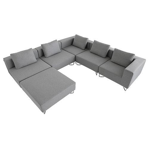 sofá modular / contemporáneo / de tejido / de metal cromado