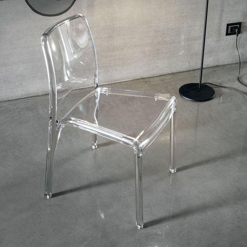 silla moderna / de policarbonato / transparente