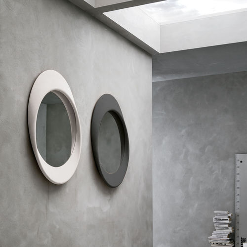 espejo de pared / moderno / redondo / de poliuretano