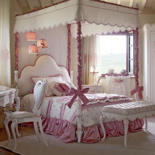 cama con dosel / individual / de estilo / para niña