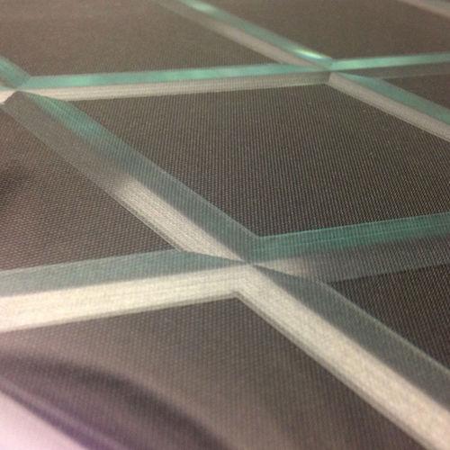panel de vidrio decorado / para interiores / translúcido