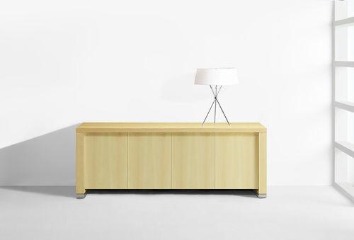 mueble de televisión contemporáneo / con elevador / de madera