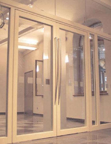 puerta de interior / abatible / de vidrio / ignífuga