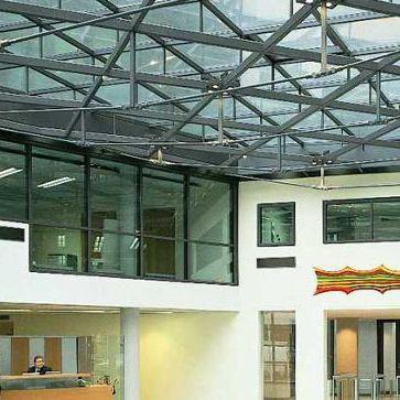 panel de vidrio con vidrio doble / de control solar / de protección contra incendios / para fachada