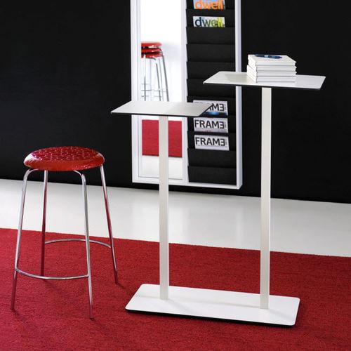 mesa alta moderna / de material laminado / de metal lacado / redonda