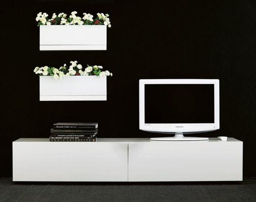 mueble de televisión contemporáneo / de roble / de nogal / de abedul