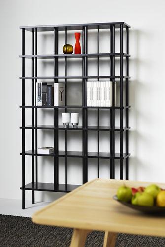 estantería contemporánea / de madera lacada / de roble