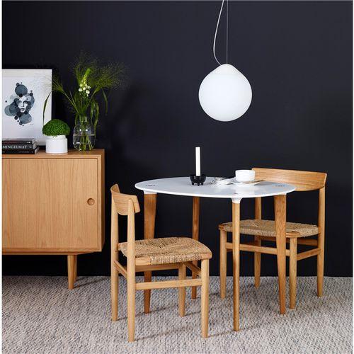 mesa contemporánea / de Hi-macs® / de roble / de nogal