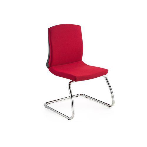 silla de visita moderna / con respaldo alto / con reposabrazos / tapizada