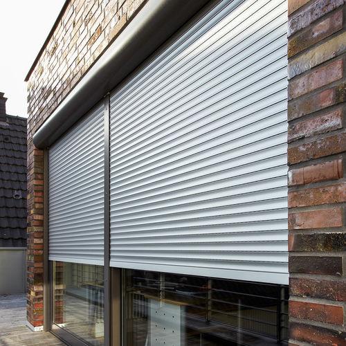 persiana exterior / de lamas / de aluminio / para ventana
