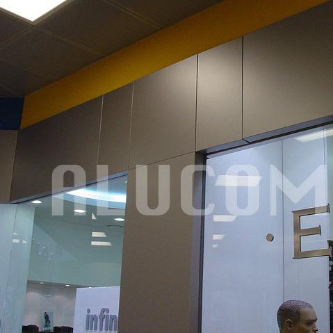 panel decorativo de revestimiento / de material compuesto / de aluminio / de pared