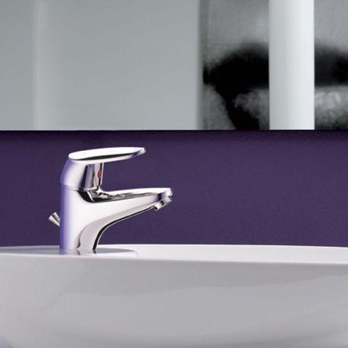 grifo monomando para lavabo / de metal cromado / mecánico / de baño