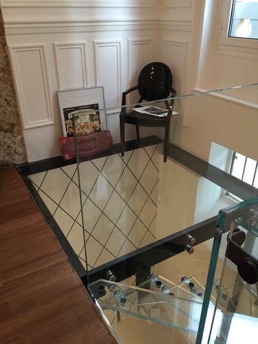 suelo técnico de acero / de vidrio / de interior / de exterior