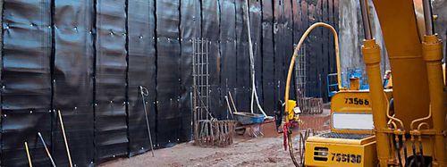 membrana impermeabilizante de protección / para drenaje / para muro vertical subterráneo / en rollo