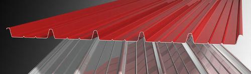 chapa acanalada / de acero galvanizado / para techado / coloreada