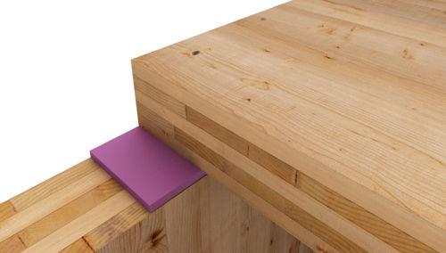 capa de aislamiento acústico en placas