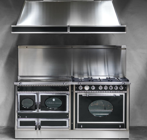 cocina con horno de gas / eléctrica / mixta / de leña