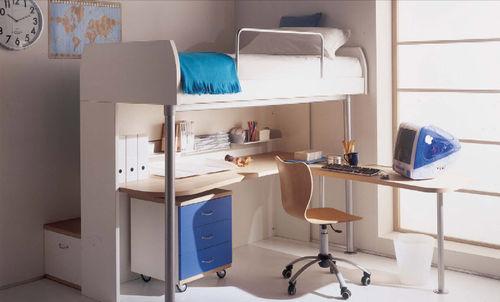 cama alta / moderna / con escritorio / infantil (unisex)
