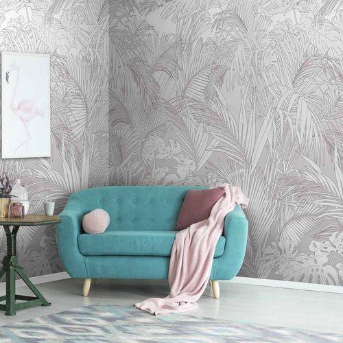 papel pintado de diseño original / con motivos florales / con motivos de la naturaleza / panorámico