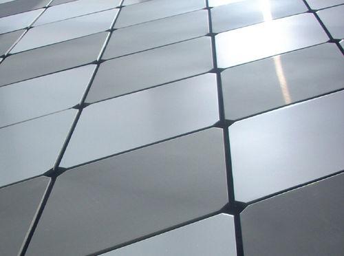revestimiento de fachada de material compuesto / de aluminio / patinado / de tipo cassette