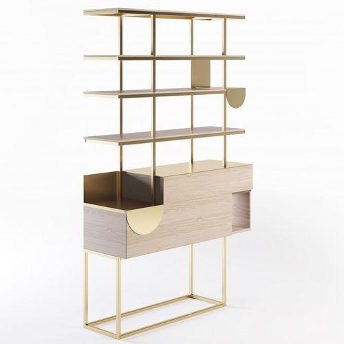expositor multiusos / para cosméticos / de madera / de metal