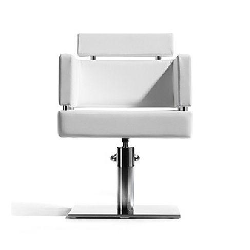 sillón de peluquería de tejido / aluminio / con base central / con bomba hidráulica