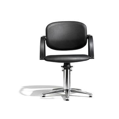 sillón de peluquería de tejido / con bomba hidráulica / con patas en forma de estrella / con respaldo reclinable