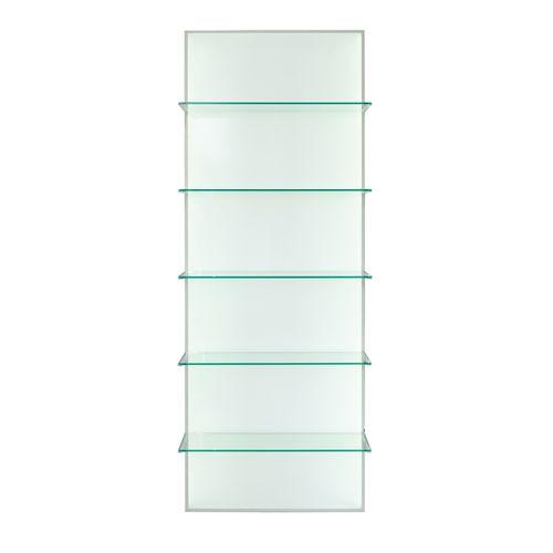 expositor de pared / para cosméticos / de vidrio / de panel