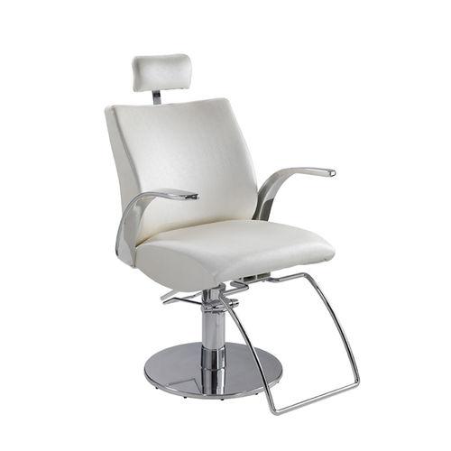 sillón de maquillaje de cuero artificial / de metal / ajustable / con reposacabezas