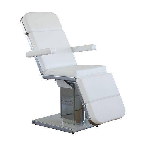 sillón médico de cuero artificial / reclinable / con reposapiernas / eléctrico