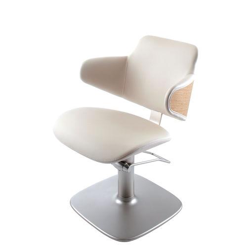 sillón de visita contemporáneo / de cuero artificial / para peluquería