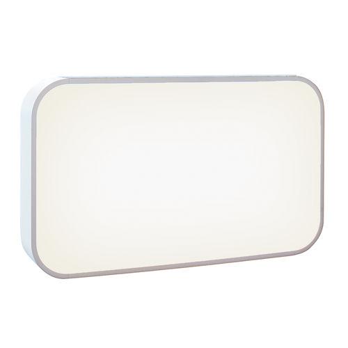 mostrador de recepción de madera lacada / con luz