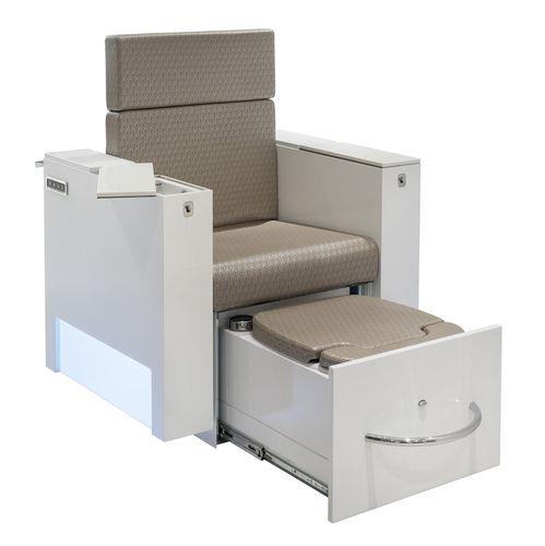 sillón spa de pedicura de cuero artificial / ajustable en altura / con respaldo reclinable / con puerto USB