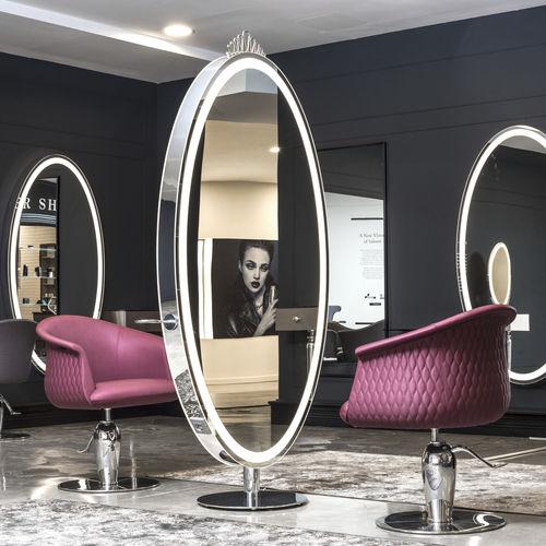 tocador contemporáneo / de poliuretano / para peluquería / retroiluminado