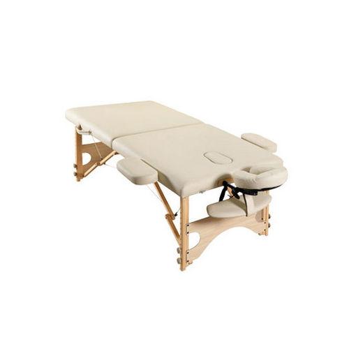 mesa de masaje plegable / de madera / para el sector servicios