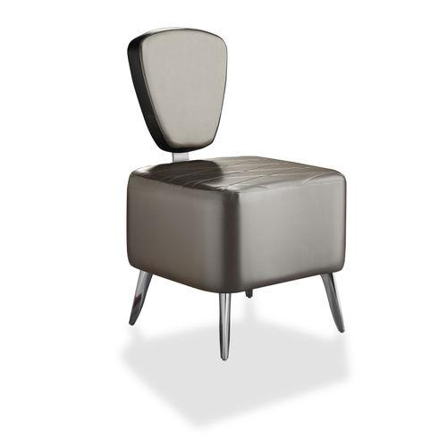 sillón bajo contemporáneo / de cuero artificial / para el sector servicios