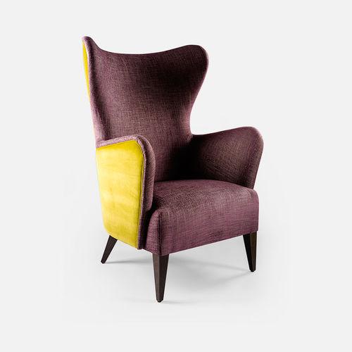 sillón clásico / de tejido / con orejas / Bergere