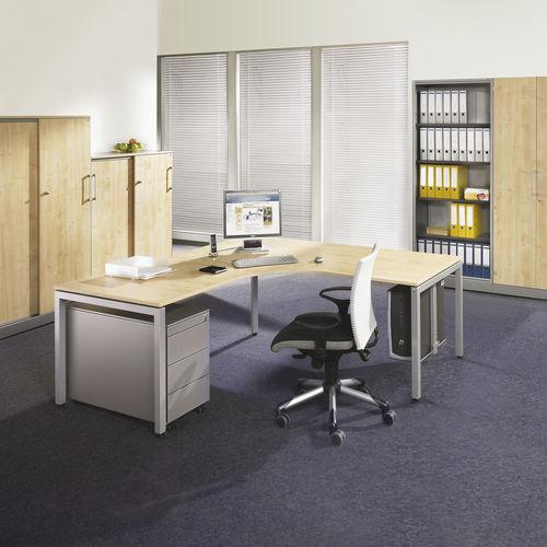 mesa de trabajo contemporánea / de HPL / rectangular / para edificio público