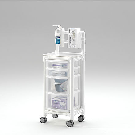 carrito para cuidados / para centro sanitario / de plástico