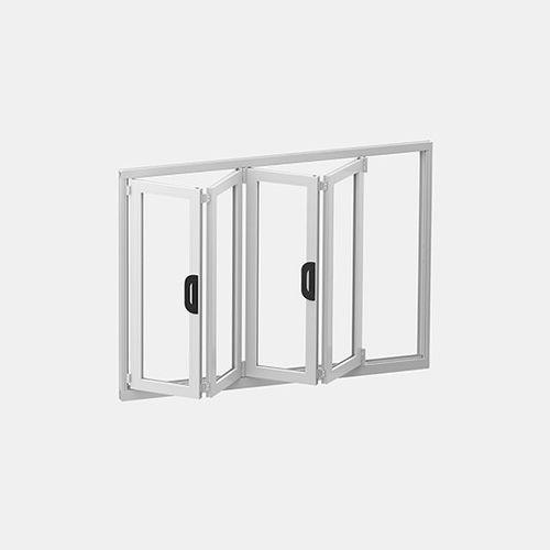 ventanal plegable / con vidrio doble / estanco