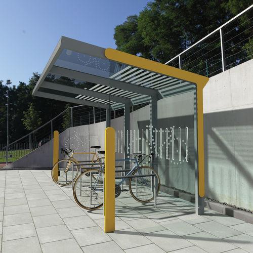 marquesina para bicicletas de acero