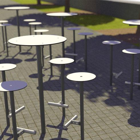 taburete de bar contemporáneo - mmcité street furniture