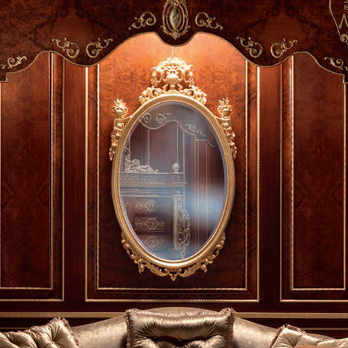 espejo de pared / de estilo / ovalado / para hotel