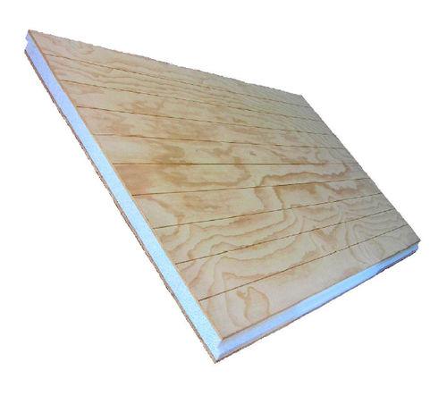 panel sándwich aislante para techado / anverso de OSB / alma de poliestireno expandido / Euroclase E