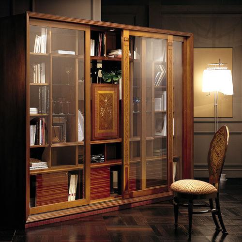 biblioteca clásica / de madera maciza / de caoba / de arce