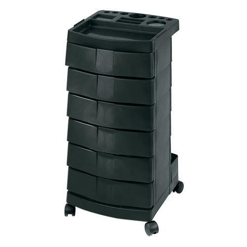 carrito para cuidados / para centro de estética / de acero inoxidable / de plástico