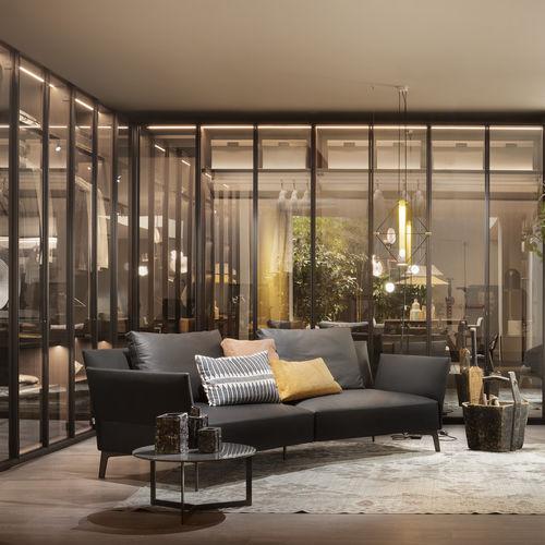 sofá modular / de esquina / contemporáneo / de terciopelo